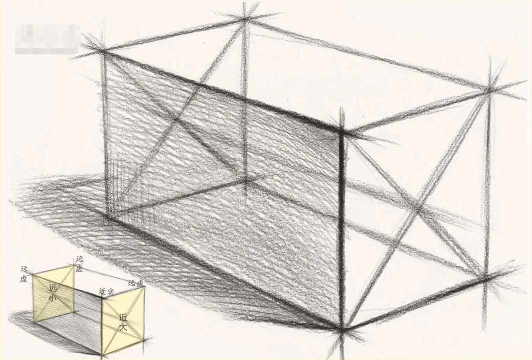 重庆美术培训学校小龙来讲下,如何从简单的几何体去学习素描中的结构、虚实、透视关系!