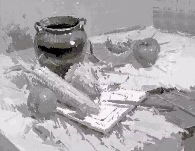 色彩静物也有黑白灰关系,重庆美术培训画室美术生你知道要如何处理吗?