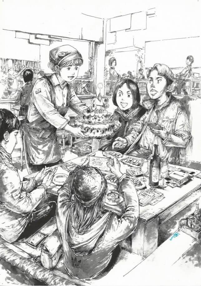 重庆美术培训画室速写作品