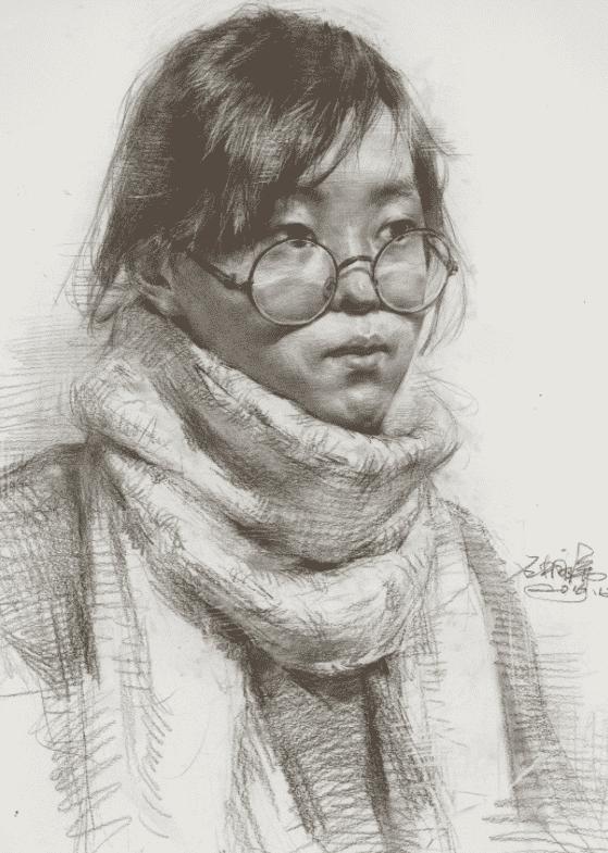 默写素描头像时,请看重庆美术培训画室美术生是如何合理刻画衣物的?