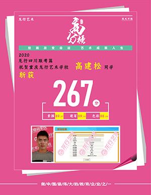 重庆龙行艺术画室优秀学员一高建松