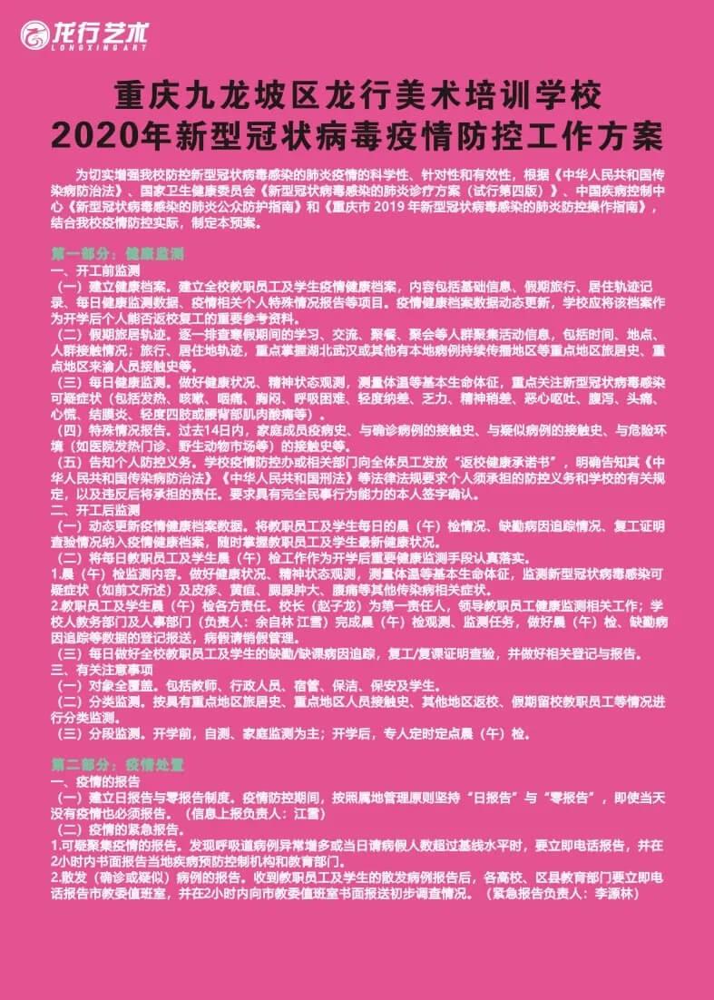恭喜龙行艺术学校成为重庆首批获得复课资格的优秀培训机构!