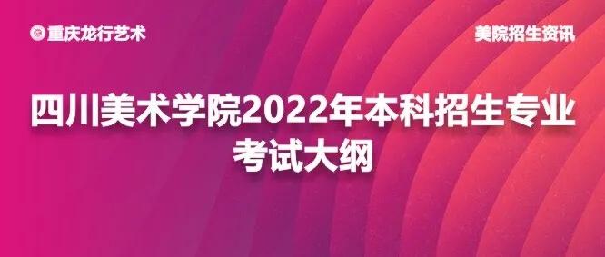 四川美术学院2022年本科招生专业考试大纲公布