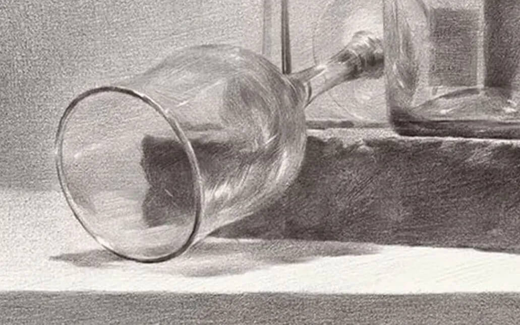 素描静物时,玻璃质感总是画的不到位!看完这篇你就知道如何画了