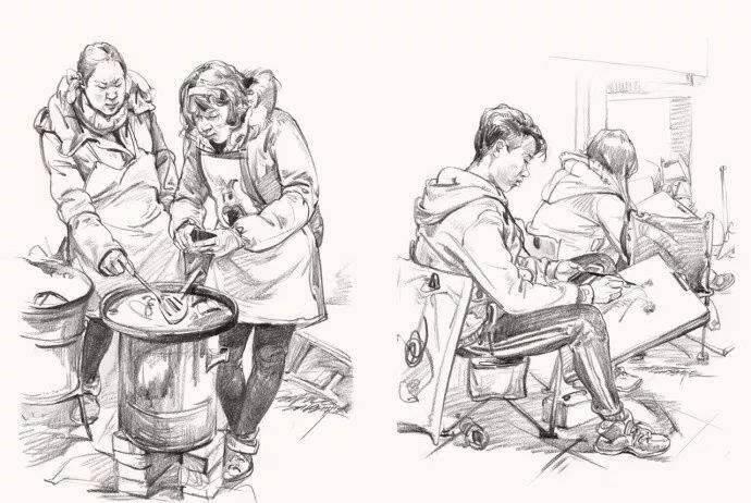 重庆美术培训画室:速写,就是一种态度!