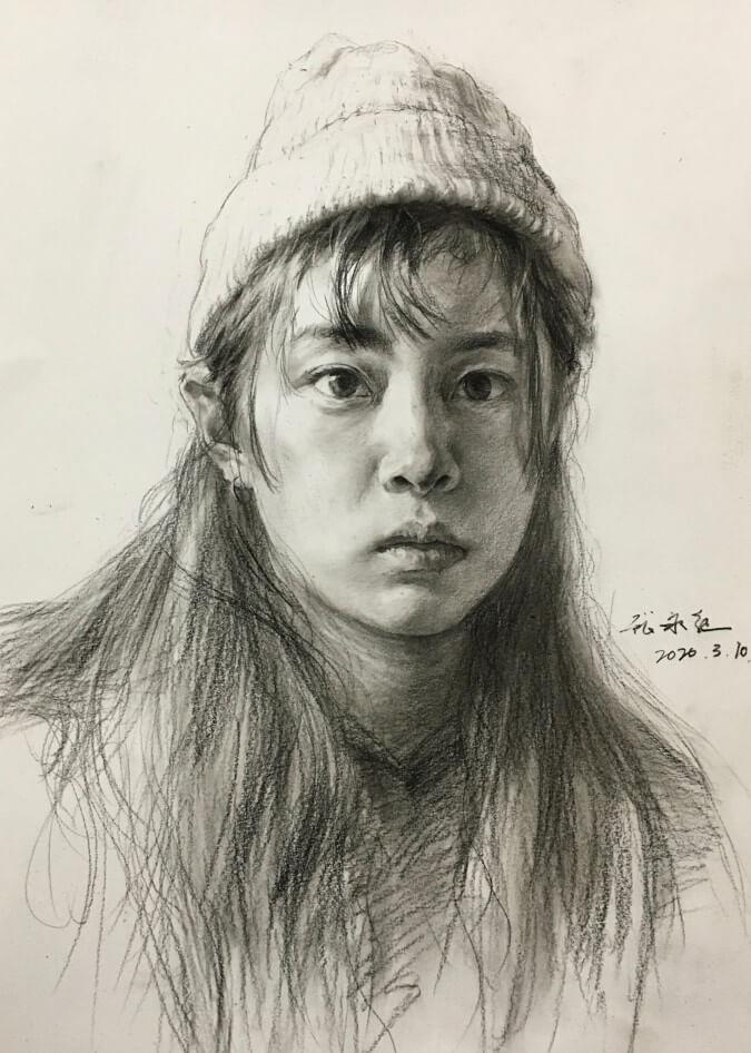 重庆美术培训画室素描作品