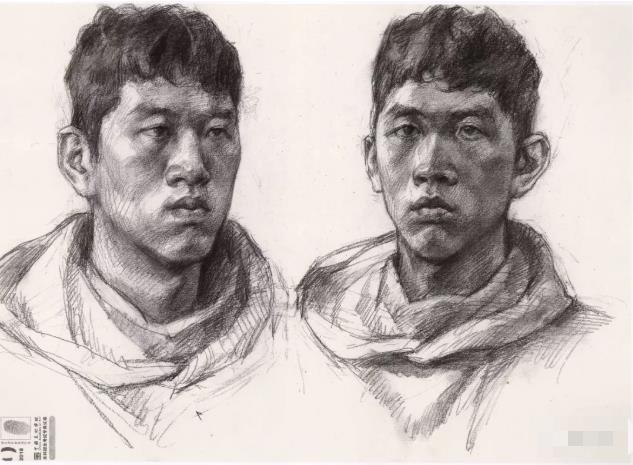 国美素描头像,重庆画室,重庆素描培训,09