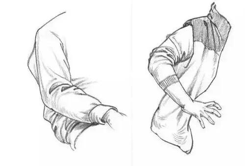 速写人物衣褶总是画不好?这四个衣褶画法帮你摆脱烦恼!