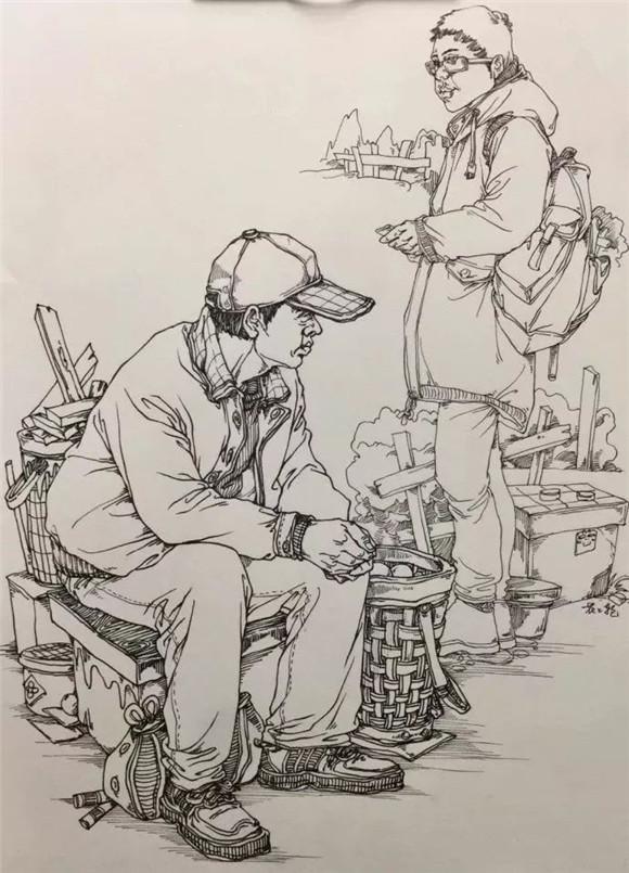 """今天重庆美术艺考集训画室带各位学子们来学习下!""""速写""""技巧中的线描手法"""
