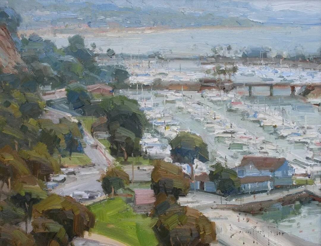 重庆美术培训画室带你来看一组美国写生实力派画家笔下的油画美景!