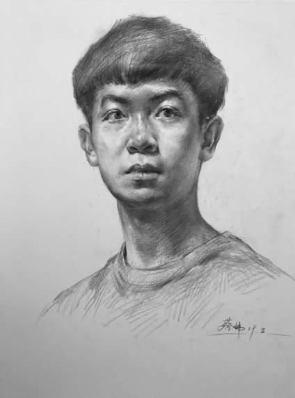 重庆十大画室素描教程|正面素描头像的刻画要点!