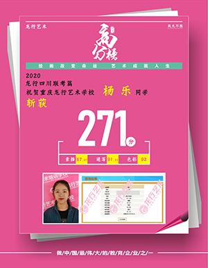 重庆龙行艺术画室优秀学员一杨乐
