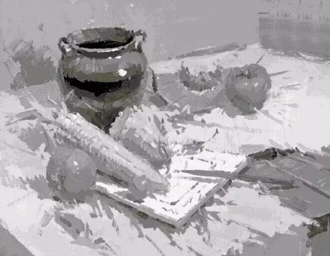 色彩静物也有黑白灰关系,重庆美术集训画室美术生你知道如何处理吗?