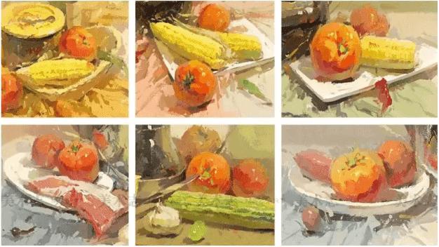 色彩静物中的蔬菜类怎么画,看重庆美术培训学校老师来教你!