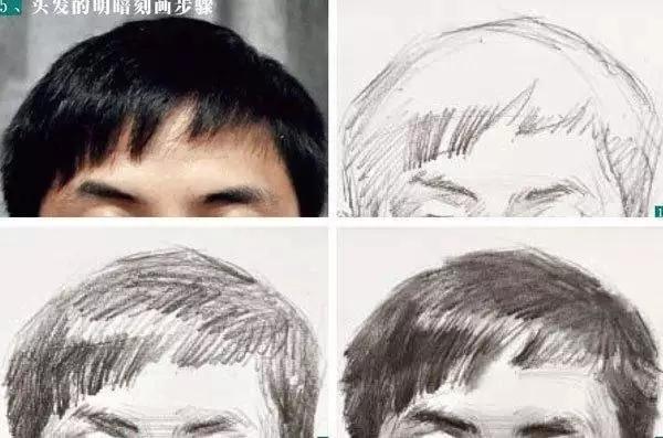 素描头像的发丝教学!跟着重庆美术集训画室老师看看吧