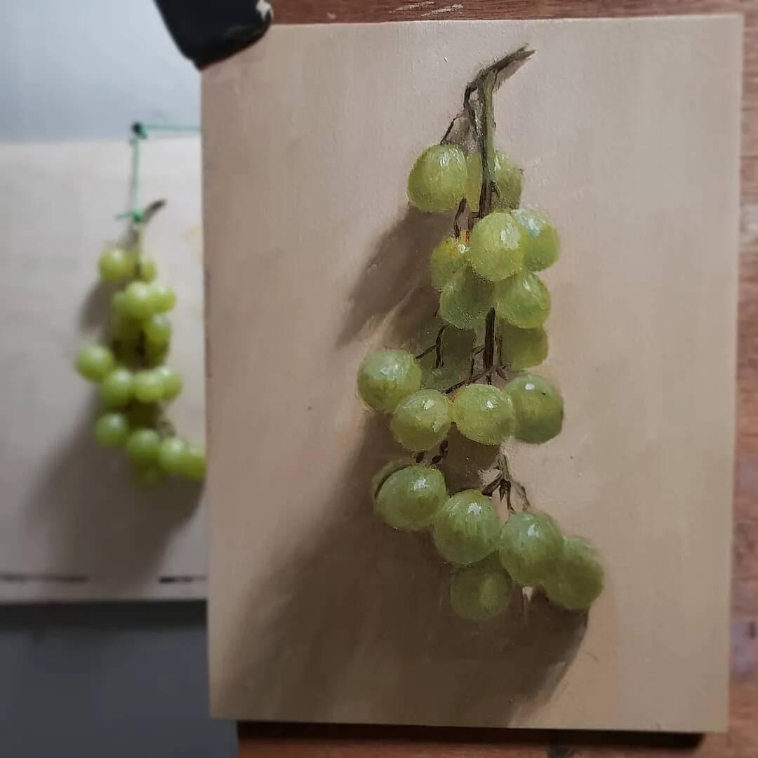 重庆美术培训画室带你欣赏既写实又有意境的素描和色彩作品!