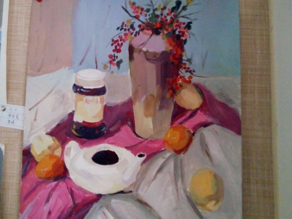 重庆美术培训:色彩静物可以画得有个性,不要拘泥一种画法!