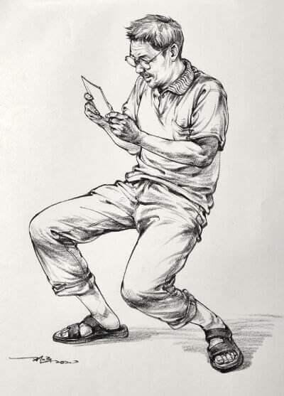 重庆美术培训画室:人物速写是不是画得越黑分越高?