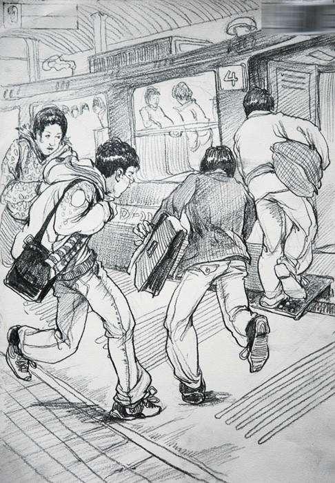 重庆美术培训班老师分享,画不同动态速写的技巧方法