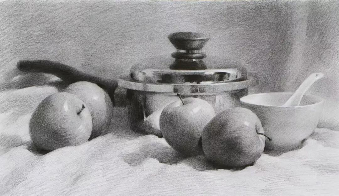 重庆画室分享素描静物组合绘画过程