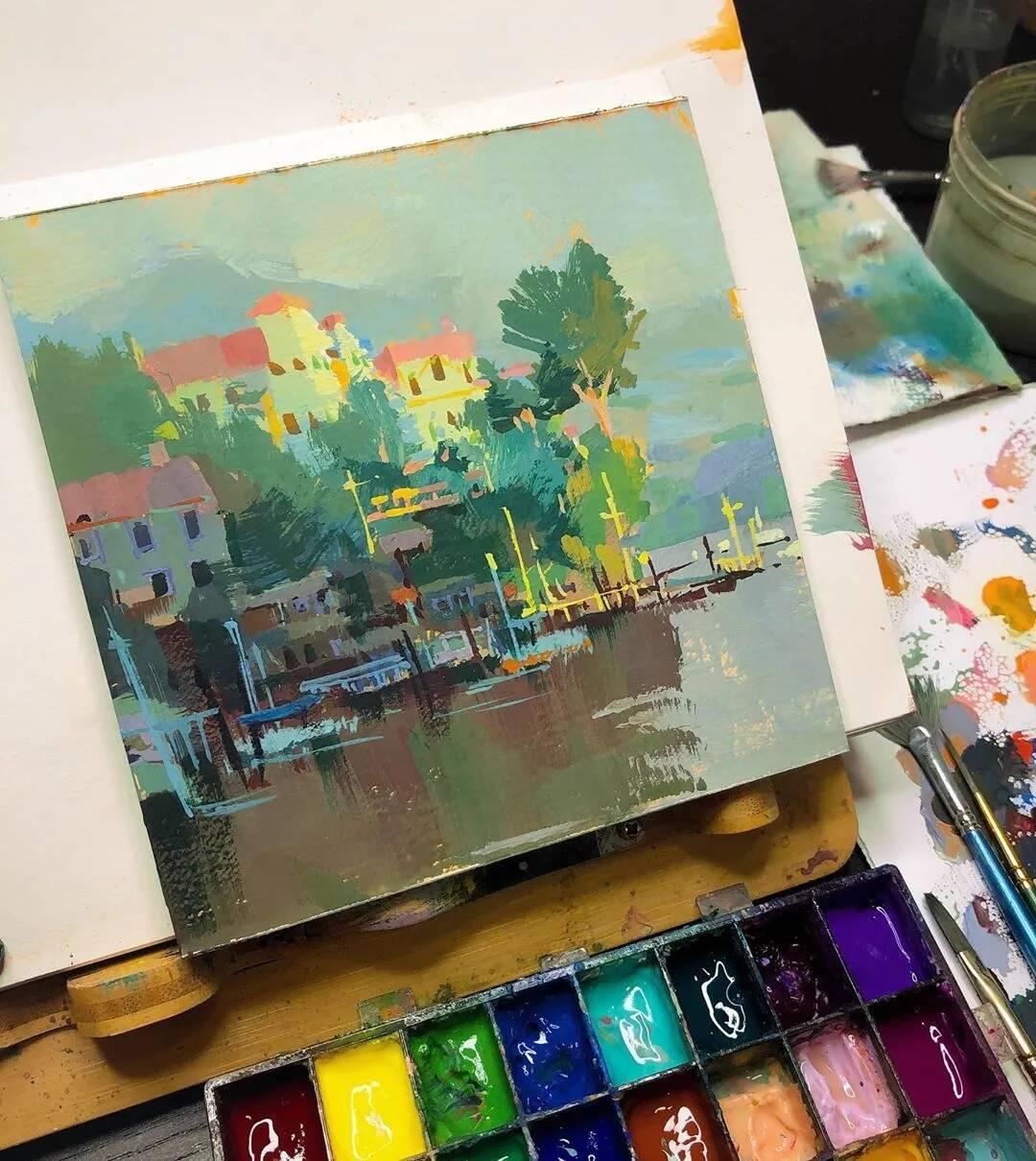 重庆美术培训画室美术生你知道如何用色彩来捕捉生活吗?这画面效果爱了!