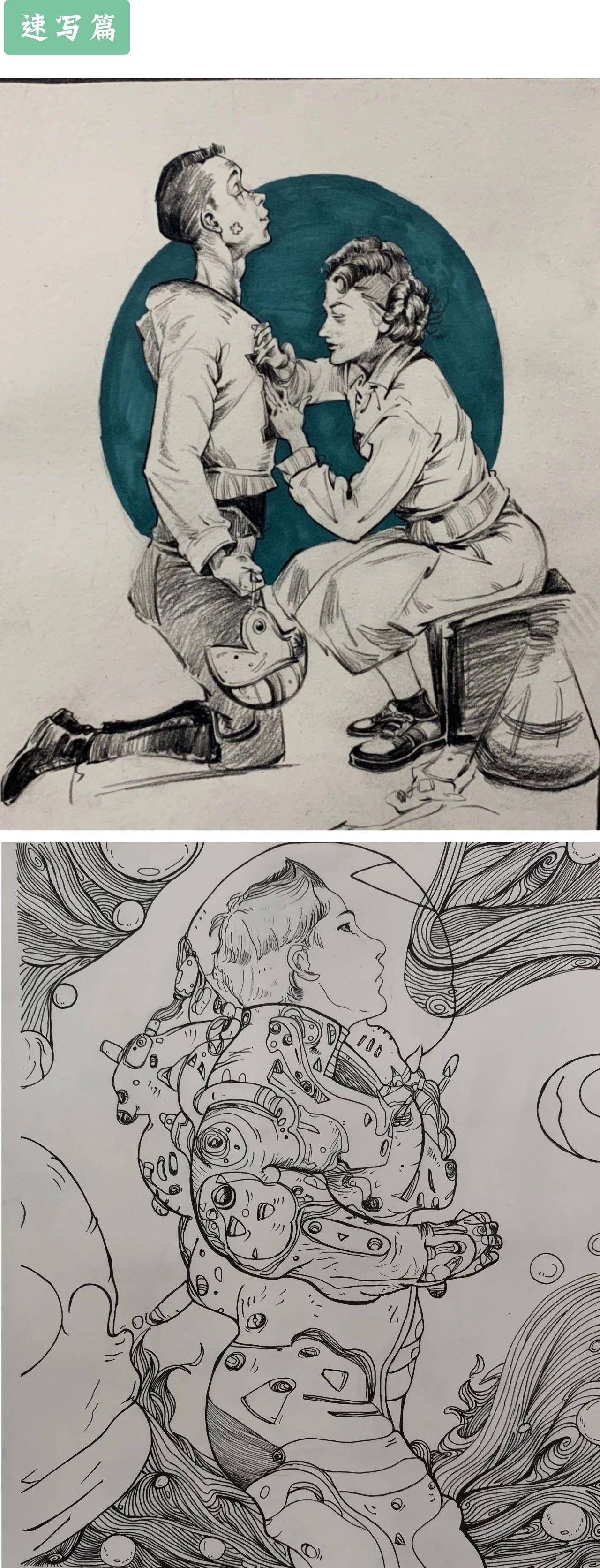 重庆画室速写作品