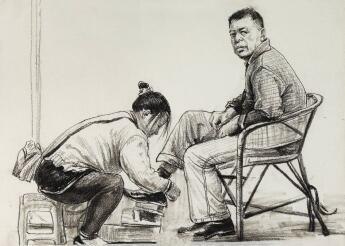 重庆美术集训画室分享 | 速写人物组合的抓分技巧,一看就懂!