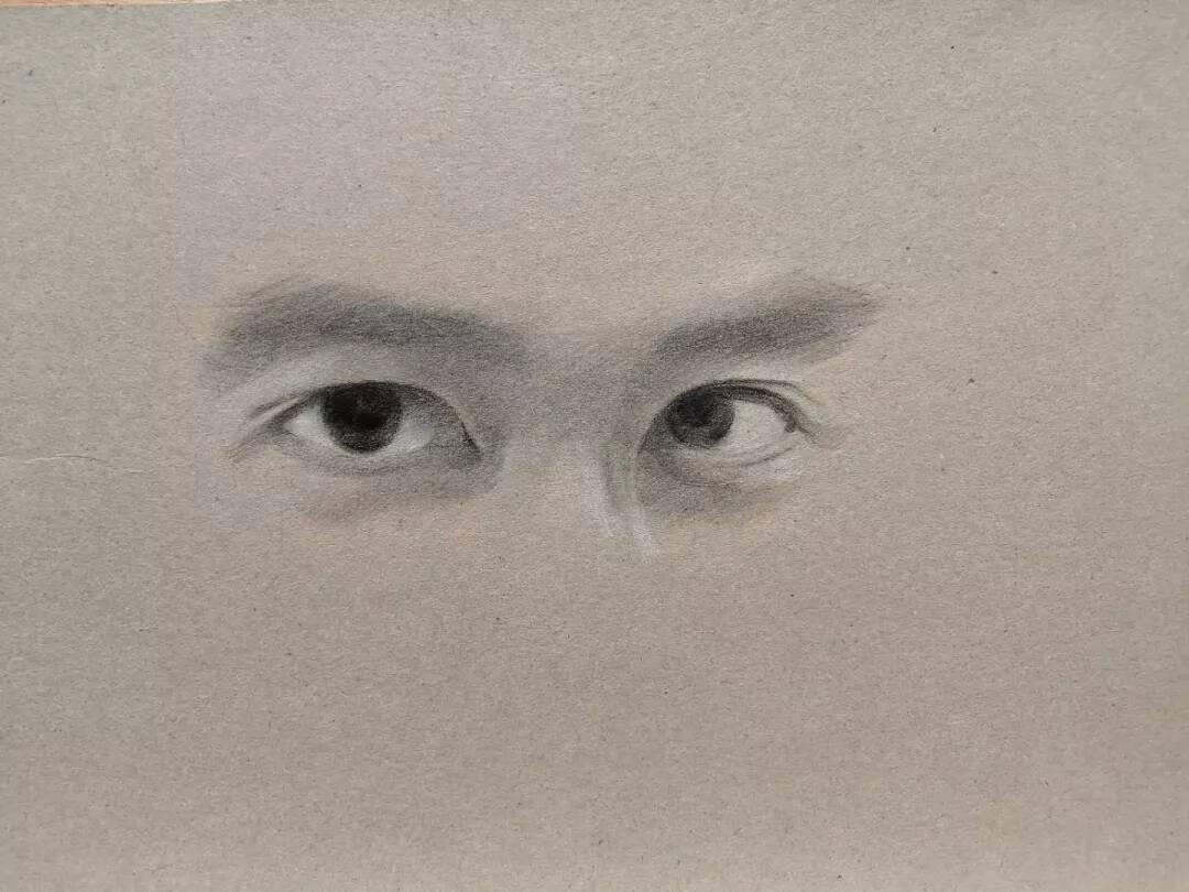 重庆美术培训画室教你画男神的眼睛!