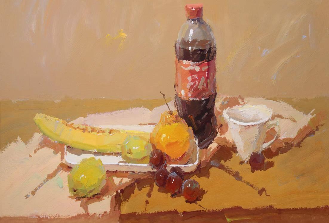 重庆美术培训画室:水果暗部总是画得脏兮兮?原因是什么?